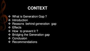 generation gap 3 • generation gap