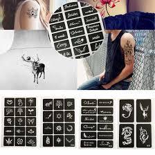 печать временных тату шаблон тела краски арт татуировка хной пресс