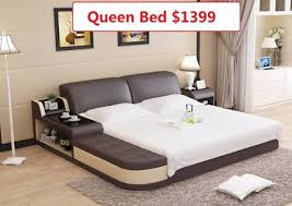 POLO Queen Bed Genuine Leather Was 1899 Now only 1399