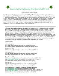 LDHS Wrestling Detail Results for 2012-2013 - WLBG