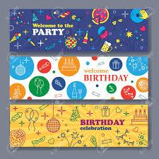 Birthday Boy Banner Design Happy Birthday Card Confetti Cute Fonts Masks Kids Birthday