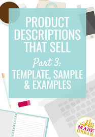 Product Description Template Free Product Description Template Sample Made Urban 1