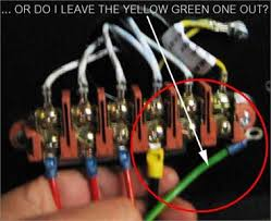 solved how do i connect the 3 phase 4pin wires to the b fixya so logic says to me i have a green yellow wire it show go on the yellow green connection that makes the black wire neutral which must go into the