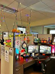 office cubicle lighting. Put Up Christmas Lights In The Cubicle At Office. #cubicle #geek # Office Lighting T