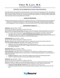 Industrial Resume Templates Telecommunications Resume Sample Professional Resume Examples 89