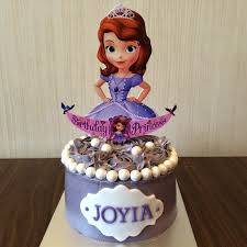 Designer Birthday Cakes In Atlanta Sofia The First Birthday Cake 1 Layer