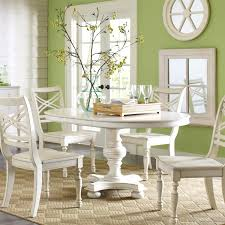 Distressed White Kitchen Table White Round Kitchen Table Brucallcom