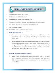 Petrol Pumps Retail Outlets 1 Hindustan Petroleum