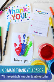 Printable Thank You Cards For Teachers Printable Thank You Cards To Make With Your Kids