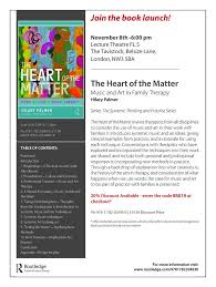"""Training at the Tavi on Twitter: """"We are delighted to announce the  publication of Hilary Palmer's book The Heart of the Matter: Music and Art  in Family Therapy which will be launched"""