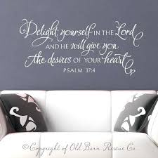 scripture wall decals wall decal wall sticker delight yourself in the lord verse hand lettered scripture art scripture wall decals for