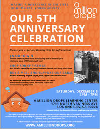 ample foods flyer our 5th anniversary celebration a million drops a 501 c 3 non