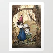 over the garden wall watercolor painting art print