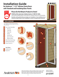 Installation Guide english - Storm Doors at The Home Depot