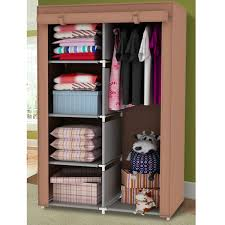 Self Assembly Bedroom Furniture Amazoncom Portable Wardrobe Storage Clothes Closet With Shelves