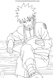 naruto and ji book lineart by silvercore94