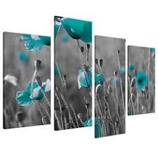 posters black and white and teal teal canvas floral wall art prints black white pictures on amazon uk wall art canvas with black white floral flower teal canvas wall art xl 130cm pictures