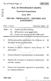 personality theories and assessment arts  personality theories and assessment 2012 arts psychology ma university exam