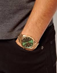 michael kors watch gold bracelet strap in metallic for men lyst gallery men s gold watches