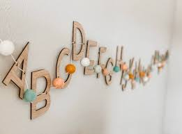 wooden alphabet wall decor