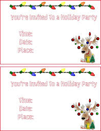 Printable Holiday Party Invitations Christmas Invitations Printable Under Fontanacountryinn Com
