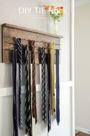 diy wood tie rack ideas