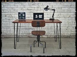 industrial style office desk modern industrial desk. This Retro Office Desk Or Dining Table Is A New Addition To Our Hairpin Range, Designed With Modern Industrial Feel. Style E