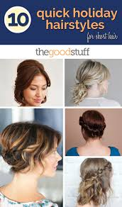 Self Hair Style 10 quick holiday hairstyles for short hair thegoodstuff 7353 by wearticles.com