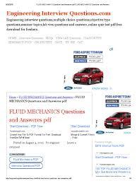 fluid mechanics questions and answeres pdf fluid mechanics fluid mechanics questions and answeres pdf fluid mechanics questions and answers