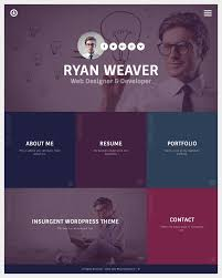 Insurgent Personal Vcard Resume Portfolio Wordpress Theme By