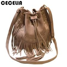 cecelia leather fringe shoulder bag fringe tassel festival boho chic indian hippie gypsy tribal bohemian ibiza bucket bag shoulder bags leather bags