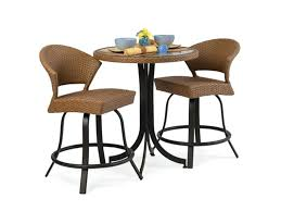 3 piece round counter height dining set 3 pieces bistro rattan dining set with round glass
