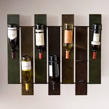 Astonishing Leeds Wall Mount Wine Storage Rack In Brown Wood Stained Wine  Wall Racks On White