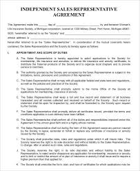 Sales Agent Contracts sales representative agreement template free sales agent contracts 2