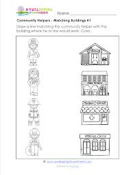 Lesson Plan Math Activities For Preschoolers About Community Helpers