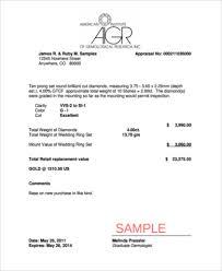 Appraisal Sheet Fascinating Sample Jewelry Appraisal Form 48 Free Documents PDF