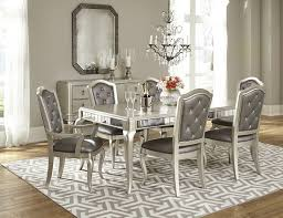 outstanding dining room sets wooden silver leg dark grey decorative dining chairs grey patterned rug chandelier pendant lamp