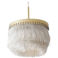 vintage hans agne jakobsson ceiling lamp with fringes for
