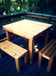 diy pallet outdoor dinning table. Ikea Concept Wooden Pallet Table And Benches Diy Outdoor Dinning
