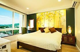 View in gallery Golden Chinese frame and bedside cabinet for an Asian  bedroom