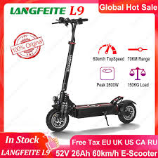 LANGFEITE <b>L9</b> 52V 26Ah 2*1000W Dual Motor Folding Electric ...