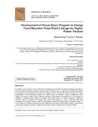 Hydraulic Cylinder Linkage Design Pdf Development Of Visual Basic Program To Design Front
