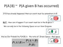 Probability Of A Given B Venn Diagram Ppt Probability Venn Diagrams Powerpoint Presentation