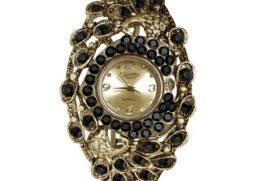 american exchange mens watch american exchange watches american exchange gold plated round bangle black stones antique