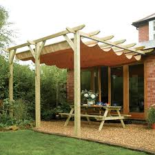 amazing wall mounted pergola rowlinson sienna taupe canopy department d i y at b q design with retractable kit uk canada nz sliding cover