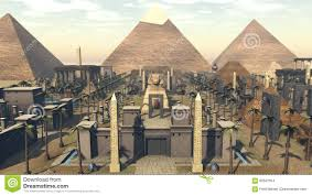 famous ancient architecture. 3D Rendering Of Monument Architecture The Heritage Ancient Egypt. Famous Sphinx In Front With Pyramids Behind And Palm Trees Dessert. A