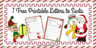 7 Free Printable Letters To Santa The Mum Educates