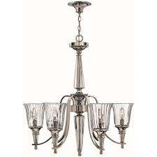 chandon classic silver sterling and crystal chandelier 6 lights