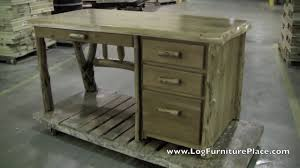 cabin office furniture. Cedar Lake Log File Desk | Cabin Office Furniture At JHE\u0027s Place - YouTube