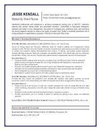 Resume Examples For Nursing Beauteous Resume Sample For Mental Health Nurse Together With Er Nursing